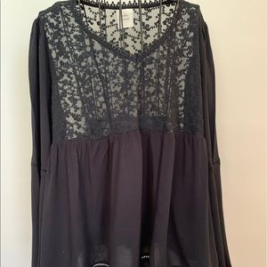 Knox Rose Black Lace Top